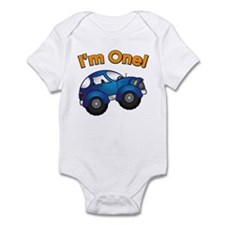 I'm One Blue Car Infant Bodysuit