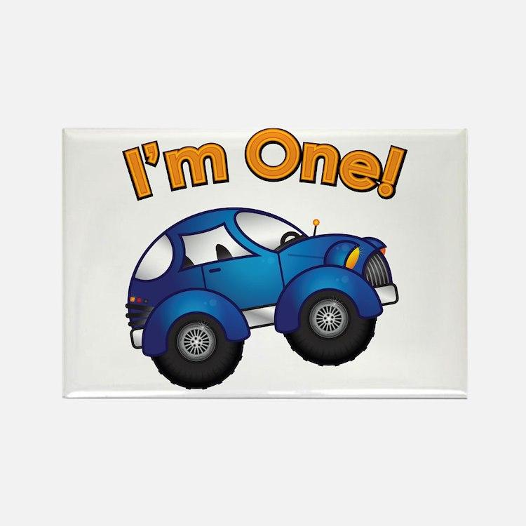 I'm One Blue Car Rectangle Magnet