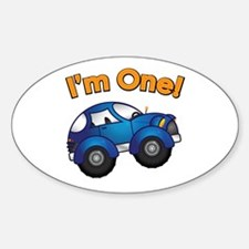 I'm One Blue Car Oval Decal