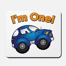 I'm One Blue Car Mousepad