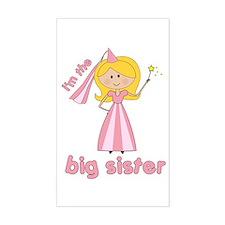 big sister t-shirts princesses Rectangle Decal