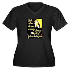 Chekhov Quote Women's Plus Size V-Neck Dark T-Shir
