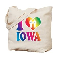 Gay Marriage: I Love Iowa - Gay Tote Bag