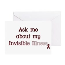 Invisible Illness - APS Greeting Card