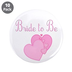 Pink Hearts Bride to Be 3.5