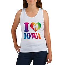 Gay Marriage: I Love Iowa - Lesbian Women's Tank T