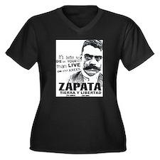 Cool Revolucion Women's Plus Size V-Neck Dark T-Shirt