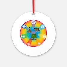 Reiki Energy Wheel Ornament (Round)