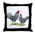 Dominique Chickens Throw Pillow