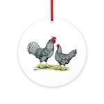 Dominique Chickens Ornament (Round)