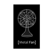 Metal Fan Decal