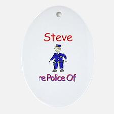 Steve - Future Police Oval Ornament