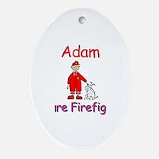 Adam - Future Firefighter Oval Ornament