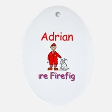 Adrian - Future Firefighter Oval Ornament