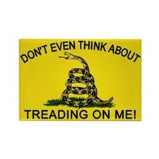 Gadsden Flag updated Rectangle Magnet