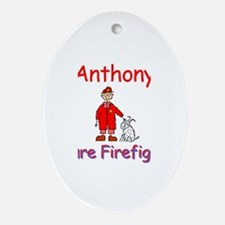 Anthony - Future Firefighter Oval Ornament