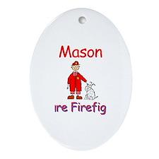 Mason - Future Firefighter Oval Ornament