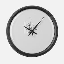 Eat. Sleep. Law. Large Wall Clock
