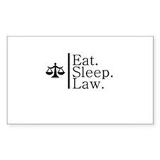 Eat. Sleep. Law. (Scales) Rectangle Decal