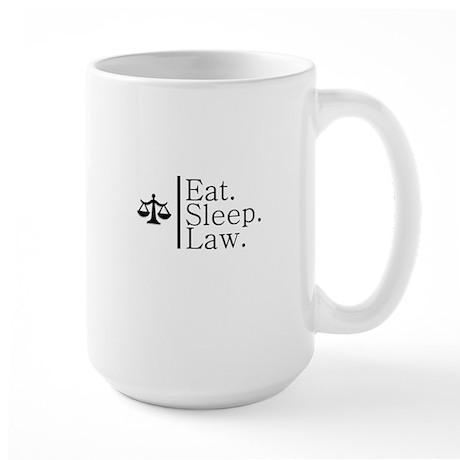 Eat. Sleep. Law. (Scales) Large Mug