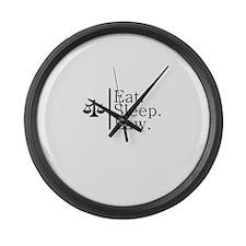Eat. Sleep. Law. (Scales) Large Wall Clock