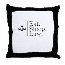Eat. Sleep. Law. (Scales) Throw Pillow
