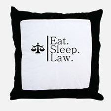 Eat. Sleep. Law. (Scales) Throw Pillow