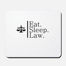 Eat. Sleep. Law. (Scales) Mousepad