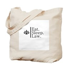 Eat. Sleep. Law. (Scales) Tote Bag
