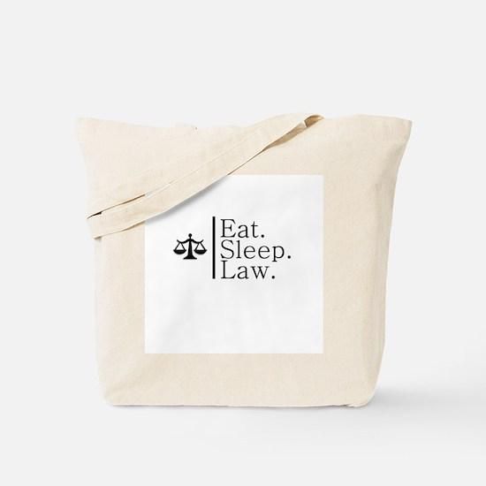 Eat. Sleep. Law. (Scales) Tote Bag