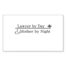 Lawyer by Day (Mother) Rectangle Decal