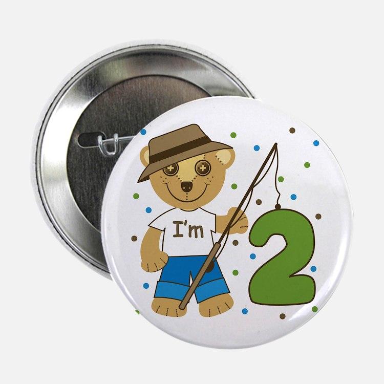 """I'm 2 Fishing Bear 2.25"""" Button"""