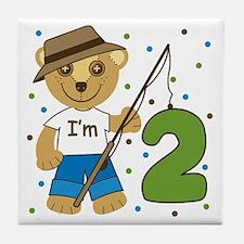 I'm 2 Fishing Bear Tile Coaster