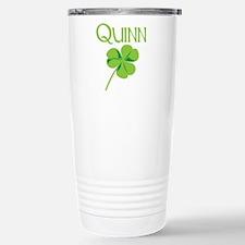 Quinn shamrock Stainless Steel Travel Mug