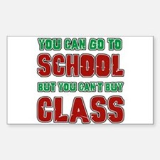 college humor Rectangle Decal