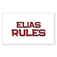 elias rules Rectangle Decal