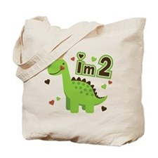 I'm 2 Dinosaur Princess Tote Bag