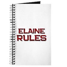 elaine rules Journal