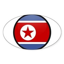 North Korea Oval Decal
