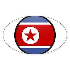 North Korea Oval Decal