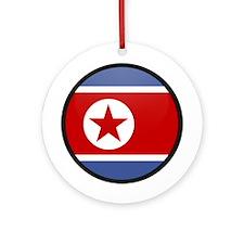 North Korea Ornament (Round)