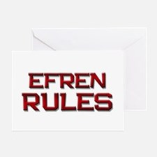 efren rules Greeting Card