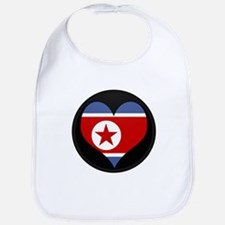 I love North Korea Flag Bib