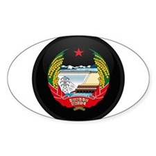 Coat of Arms of North Korea Oval Decal