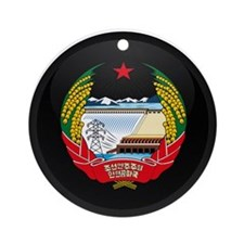 Coat of Arms of North Korea Ornament (Round)