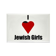 I Love (heart) Jewish Girls Rectangle Magnet