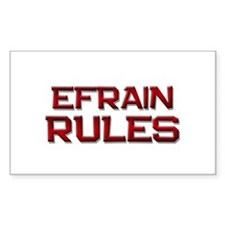 efrain rules Rectangle Decal