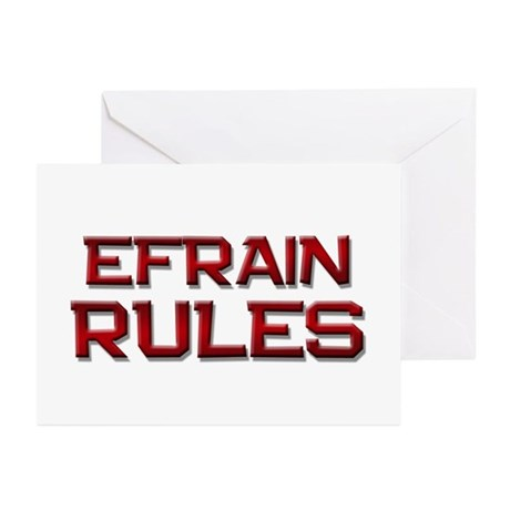 efrain rules Greeting Cards (Pk of 10)