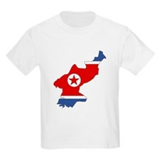 North Korea Flag Map T-Shirt