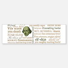 Shakespeare Insults Bumper Bumper Sticker